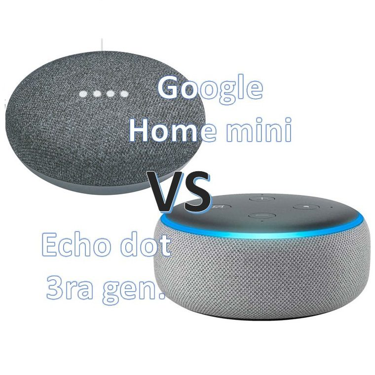 Google home mini vs Echo dot 3ra generación
